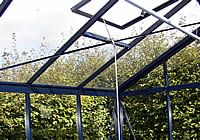 Greenhouses with roof windows