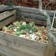 compost heap made from unwanted wood