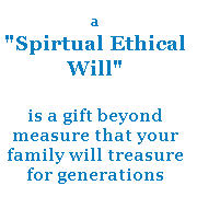 spiritual ethical will