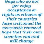 welcomed news for gay rights in third world