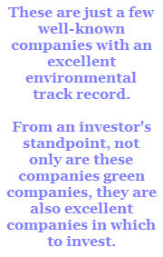 green companies with environmental track record