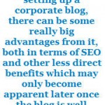 How A Corporate Blog Can Benefit Your SEO Campaign