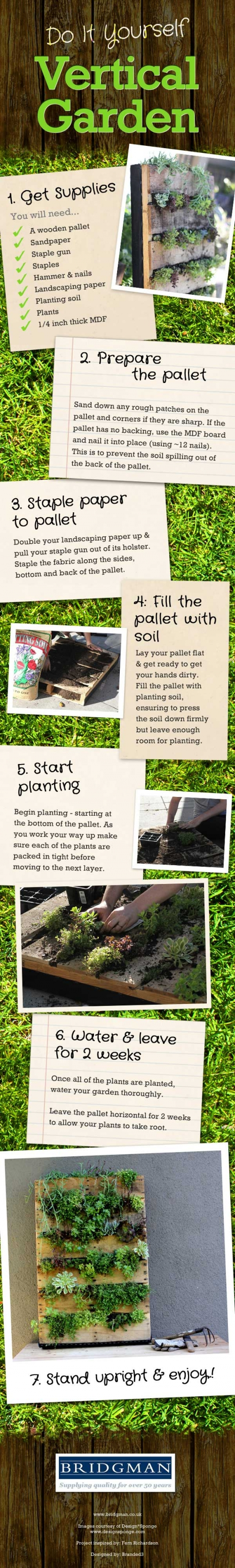 its easy to make your own verticle garden