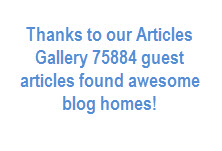 Thanks to our Articles Gallery 75884 guest articles found awesome blog homes!