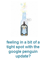 in a tight spot with google penguin update