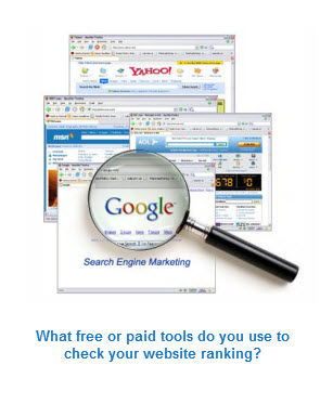 lots of free tools on the web for website ranking checks
