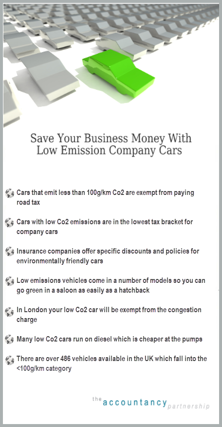 save your business money with low emission company cars