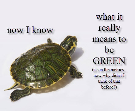 green metrics school of thought on sustainability is simple