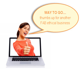 we give a thumbs up for ethical businesses