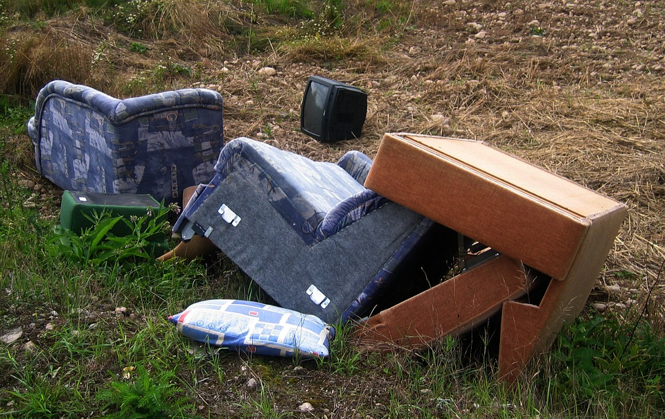 Steps to take when someone fly tips on your land